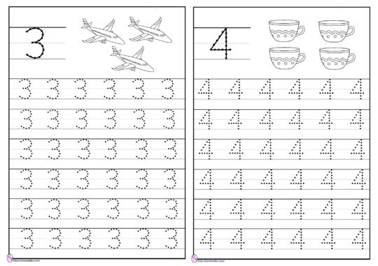 belajar menulis angka 1-10 dengan titik titik