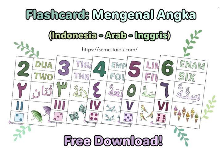 Flashcard anak - flashcard angka - free download - lembar kerja anak tk
