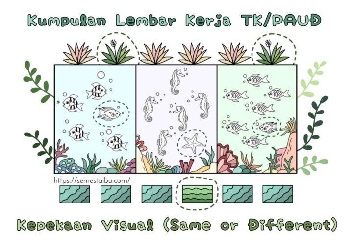lembar kerja anak tk - lembar kerja paud - diskriminasi visual
