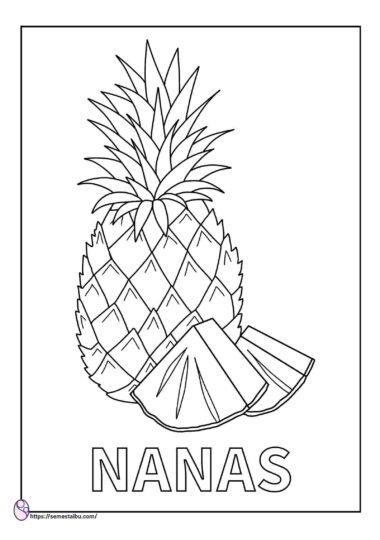 lembar kerja anak tk - gambar mewarnai buah