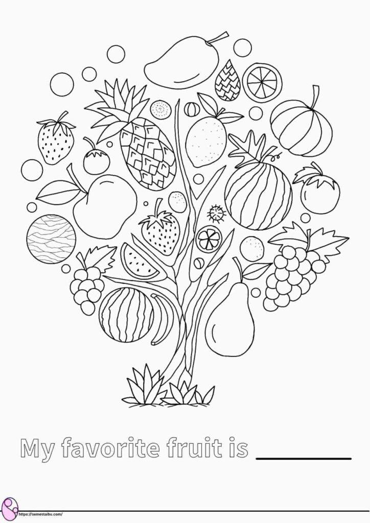 gambar mewarnai buah