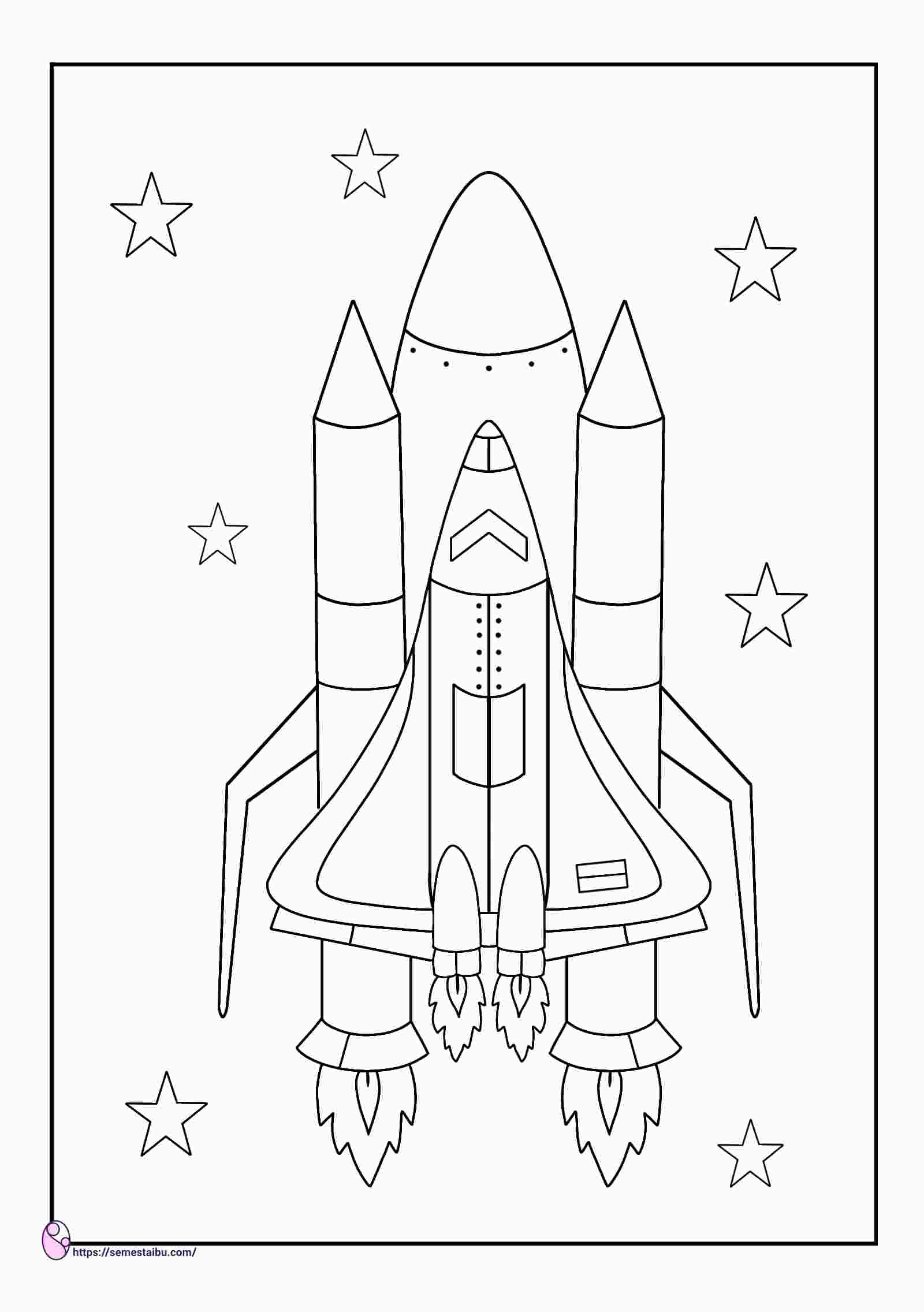 gambar mewarnai roket