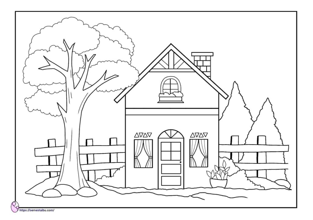 Printable coloring pages - house