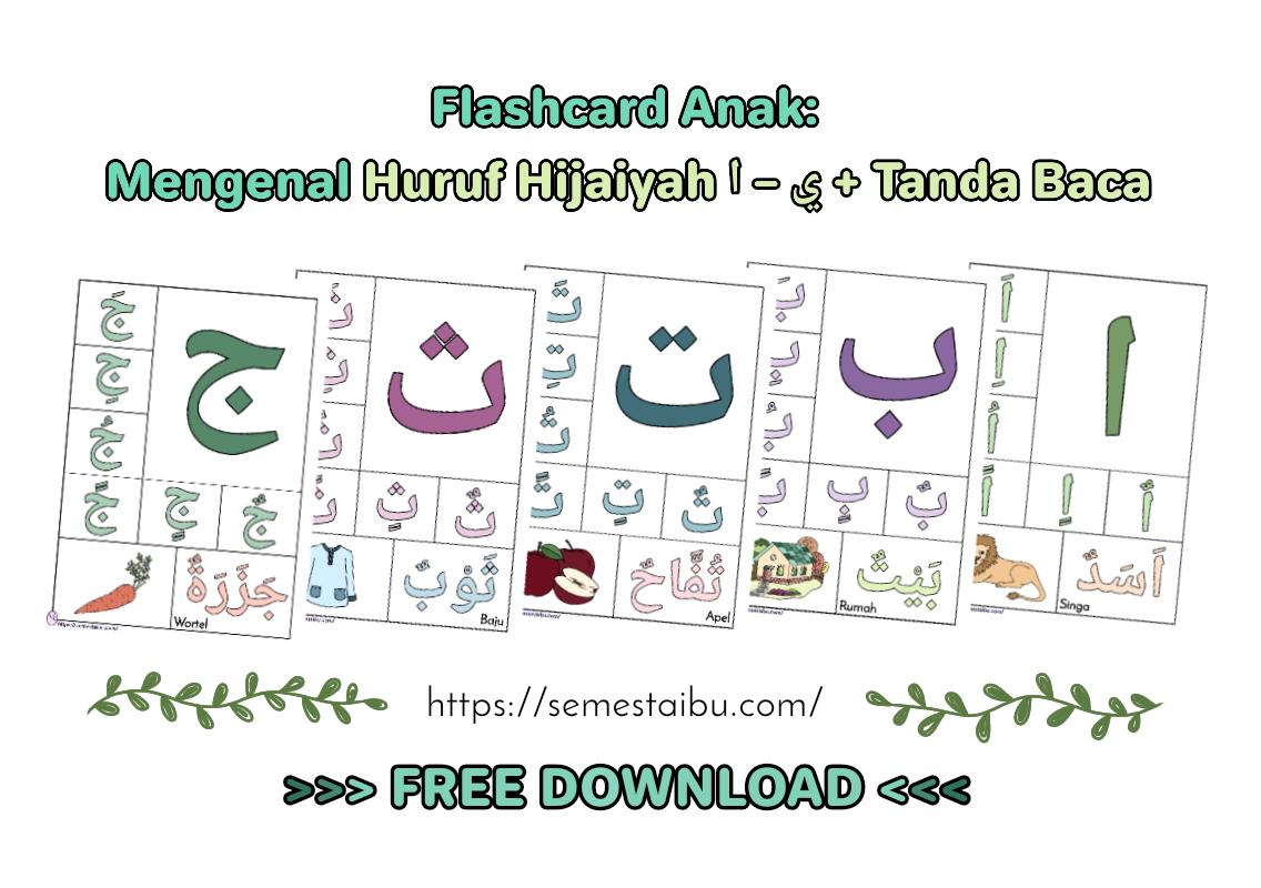 Flashcard Huruf Hijaiyah Dan Harakat Dasar Semesta Ibu Free Download