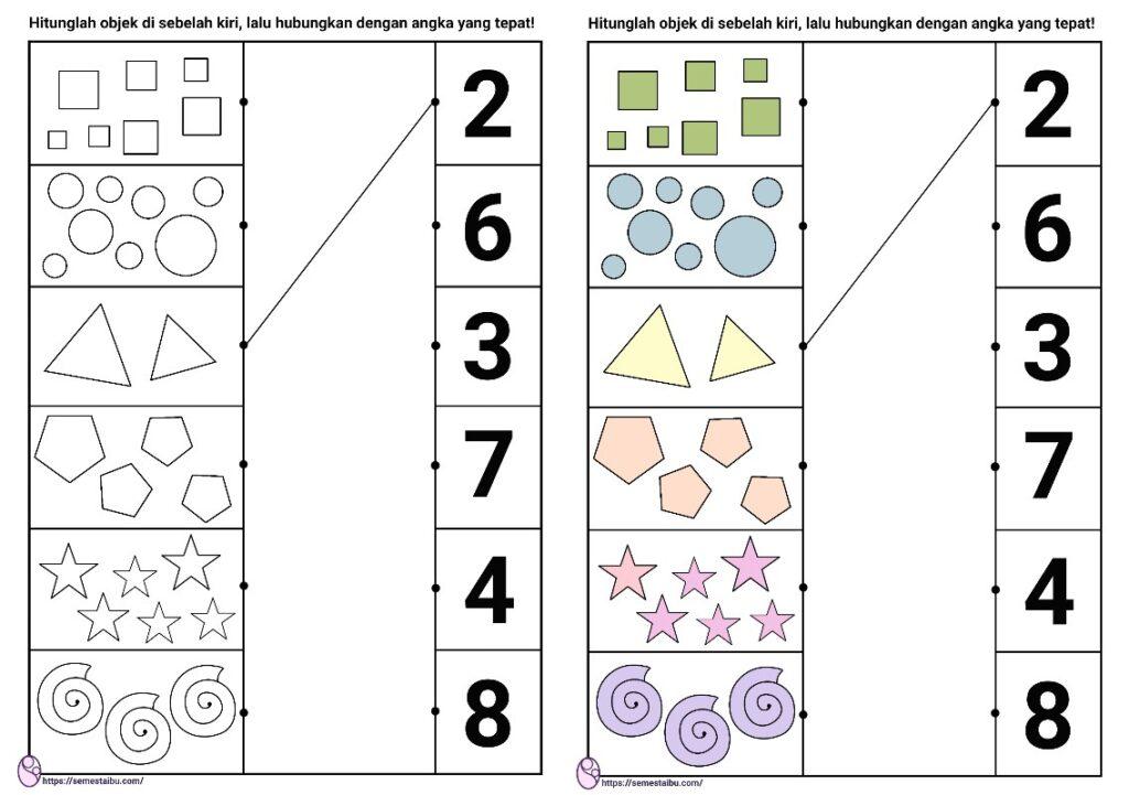 kognitif lembar kerja anak tk berhitung