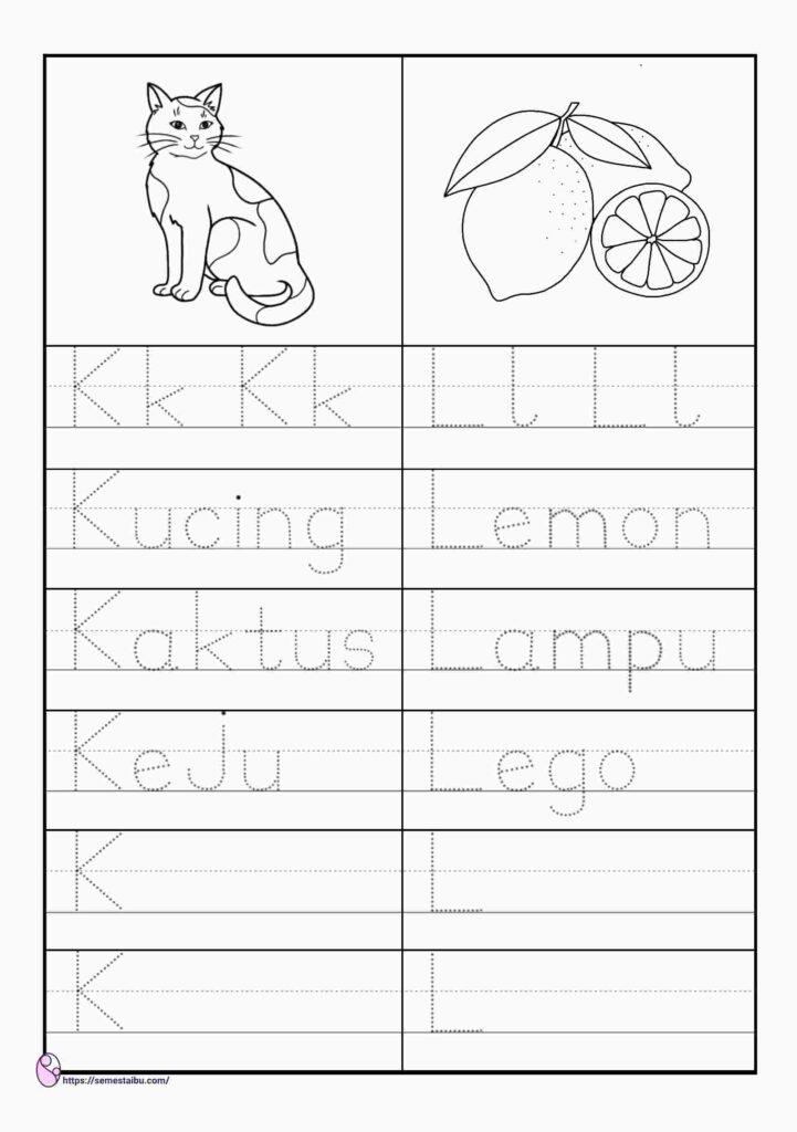 lembar kerja paud tema hewan