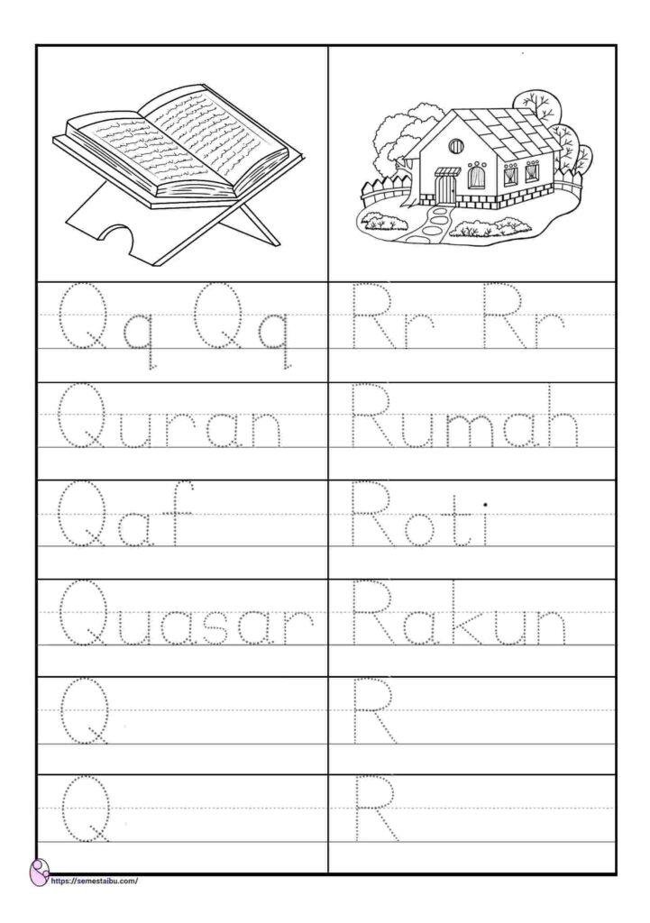 worksheet anak tk menulis