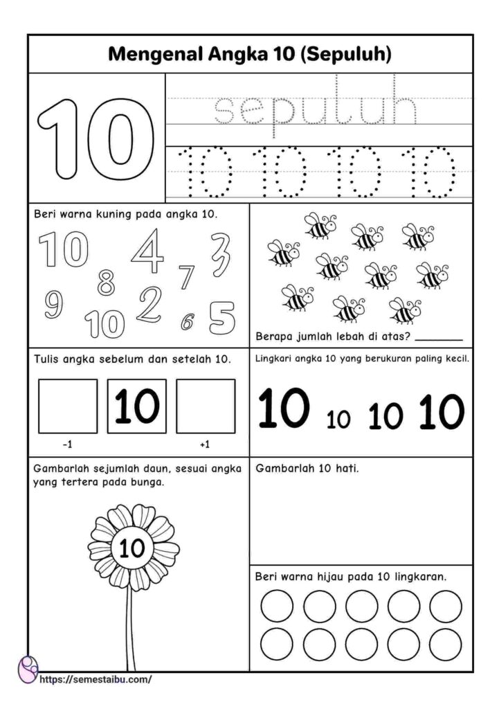 worksheet anak tk
