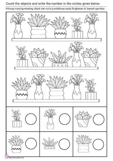lembar kerja anak tk - tema tanaman