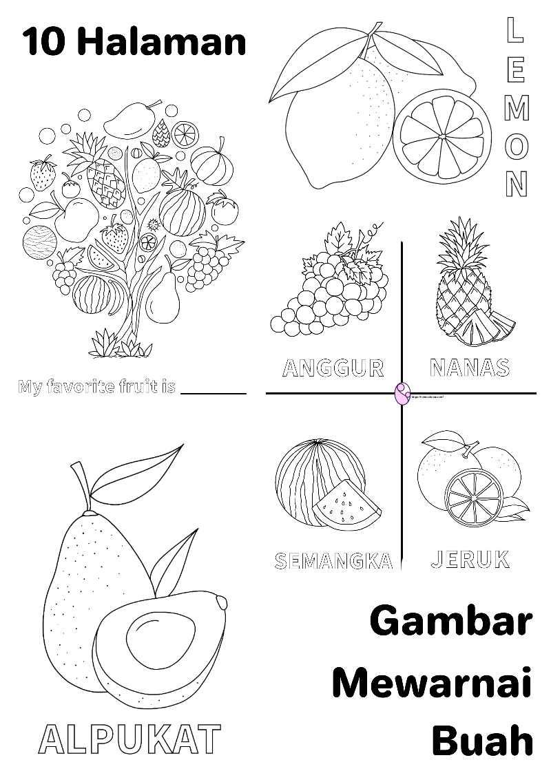 Gambar Mewarnai Buah Lemon