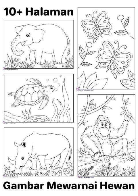 Gambar mewarnai hewan