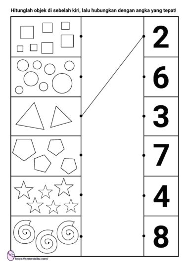 lembar kerja anak tk - logis matematis