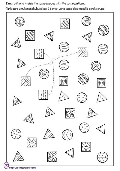 kognitif lembar kerja anak tk - visual