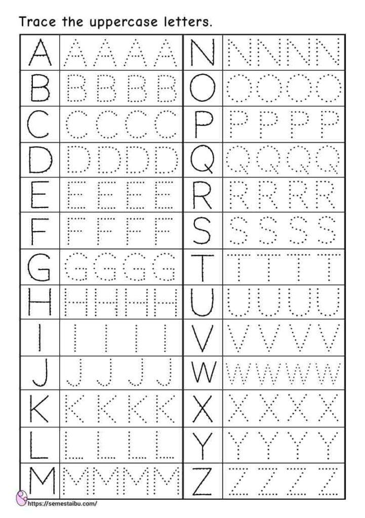 Kindergarten worksheets - letter tracing