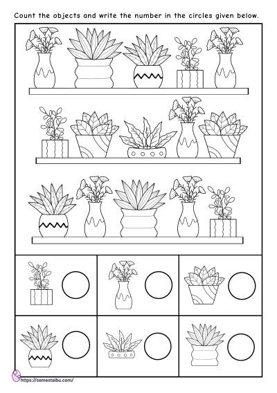Counting Worksheets - I Spy Game